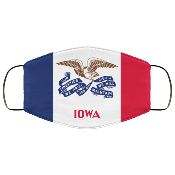 Flag of Iowa state Cloth Face Mask Reusable