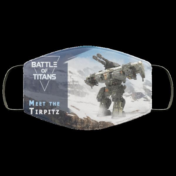 Battle of Titans Face Mask Reusable