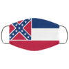 Flag of Mississippi state face mask Washable Reusable