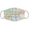 New York City subway map Face Mask Reusable