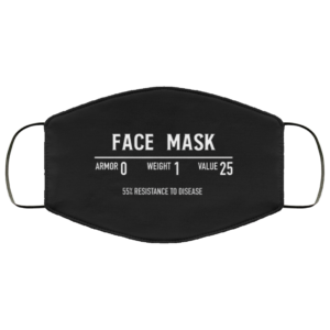 Funny Fantasy Role Playing Game RPG Gamer Cloth Face Mask