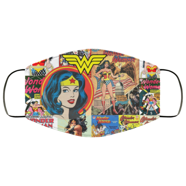 Wonder Woman Comic Reusable Face Mask