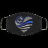 Sunflower Heart – Back The Blue Reusable Face Mask