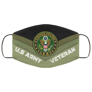 US Army United States Army Veteran Face Mask Reusable US Veteran Face Mask Reusable
