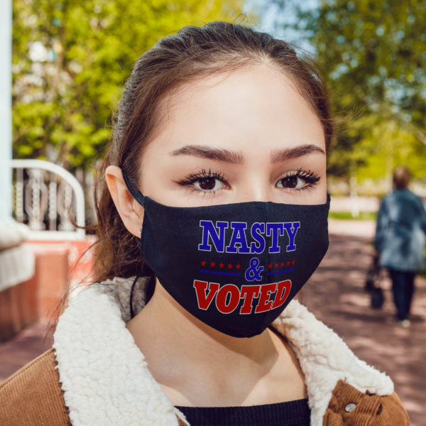 Nasty And Voted Face Mask 19th Amendment Feminist Election Gift