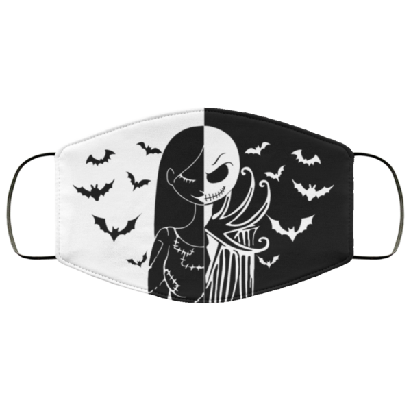 Jack Skellington and Sally The Nightmare Before Christmas Face Mask
