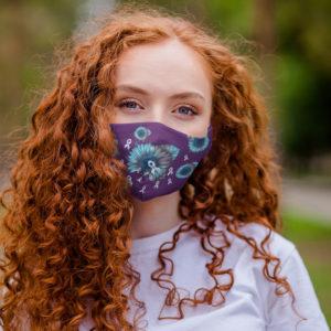 Diabetic Awareness Face Mask SunFlower Diabetes Awareness Face Mask