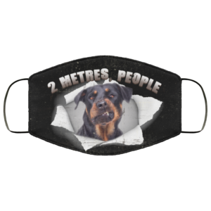 2 Metres People Funny Rottweiler For Rottweiler Printed Face Mask