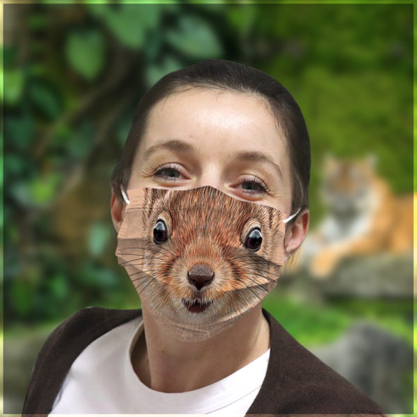 Printable Squirrel Face Mask