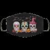 Halloween Sugar Skulls Face Mask