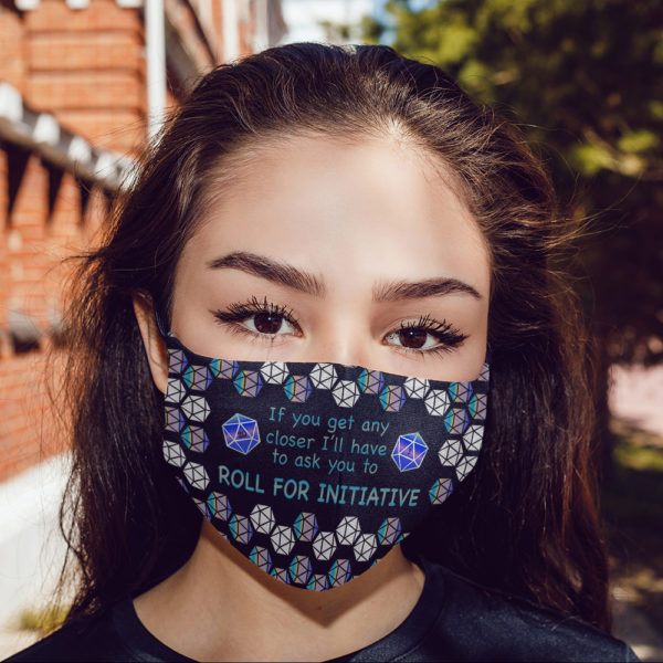 Roll For Initiative Face Mask Video Game Face Mask Gaming