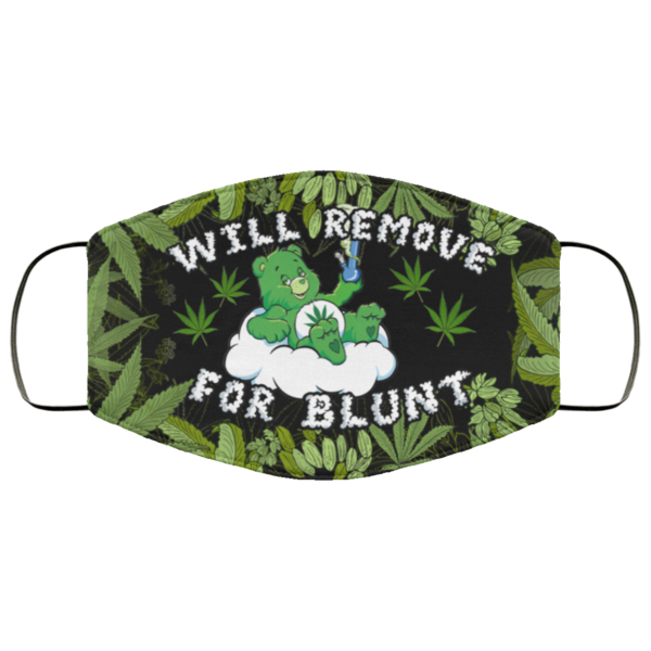 Bear Smoke Weed with Bong Will Remove for Blunt Face Mask