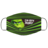 Six Feet People Funny Grinch Face Mask