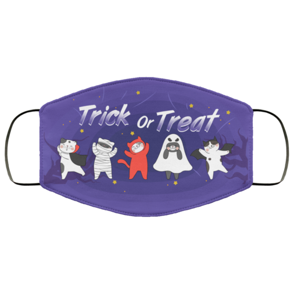 Creepy Halloween Cat Mask Asking Trick Or Treat Cat Halloween Face Mask