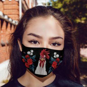 Rose Face Mask Floral Chicken Face Mask