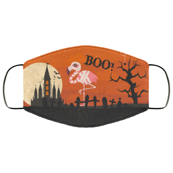 Halloween Flamingo Boo Face Mask