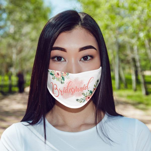 Bridesmaid Floral Mask Face Mask