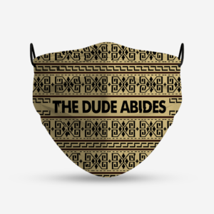 The Dude Abides Lebowski Sweater Pattern Face Mask