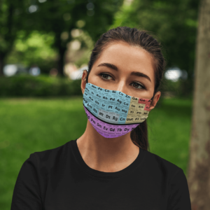 Table Science Periodic Table Face Mask