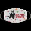 Black Cat Six Feet People Face Mask