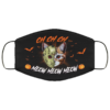 Creepy Halloween Cat Movie Mask Cat Jason Mouth Mask Friday The 13th Face Mask