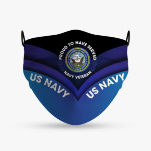 US Navy Veteran Proud to Have Served Face Mask