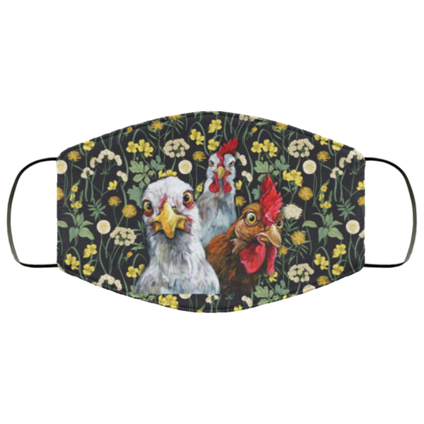 Seamless Floral Face Mask Flower Chicken Face Mask