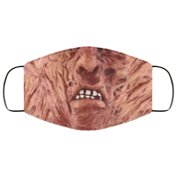 Creepy Halloween Movie Retro Mask Freddys Mouth Mask Nightmares On Elm Street Face Mask