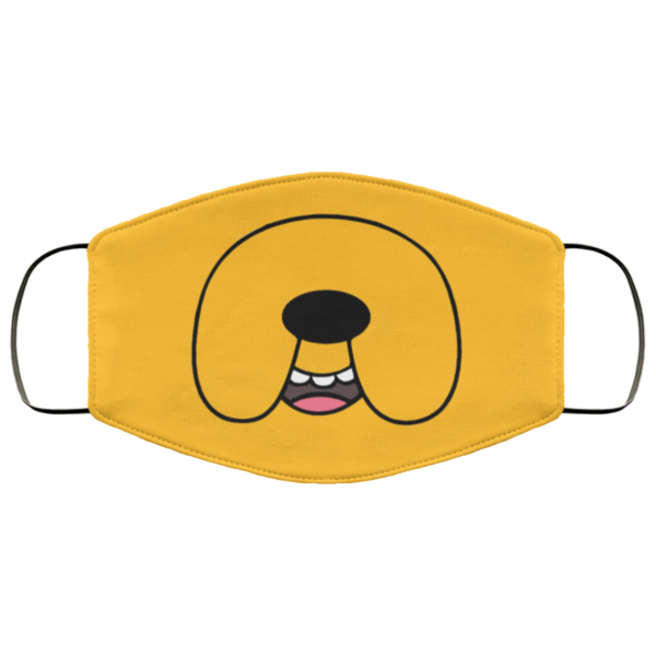 Adventure Time Face Mask Funny Jake the Dog Printed Face Mask