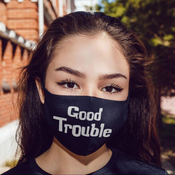 John Lewis Good Trouble Civil Rights Black Lives Matter Face Mask