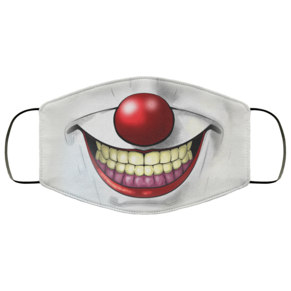 Horror Halloween Movie Retro Mask IT Mouth Mask Balloon Pennywise Killer Face Mask