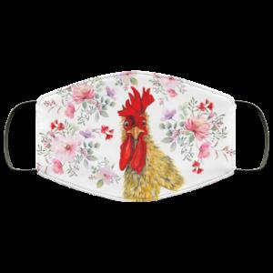 Floral Face Mask Flower Chicken Face Mask