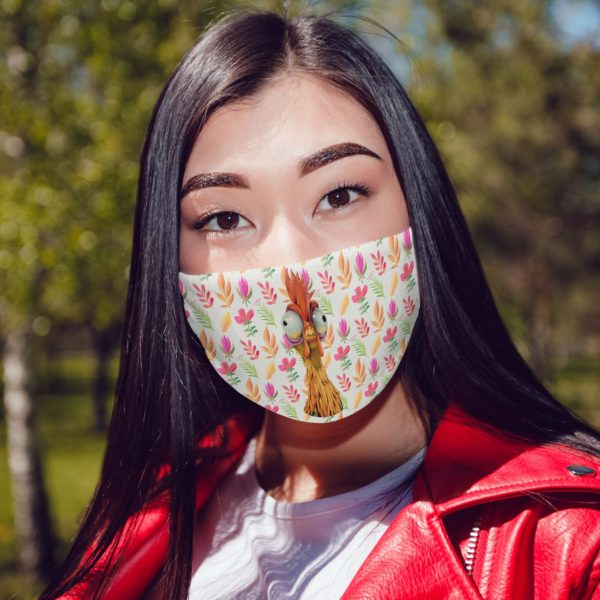 Seamless Floral Face Mask Funny Flower Chicken Face Mask