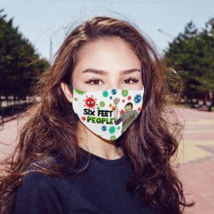 The Bigbang Theory Sheldon Six Feet People And The Flu Face Mask
