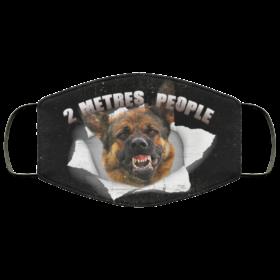 2 Metres People Funny German Shepherd Face Mask