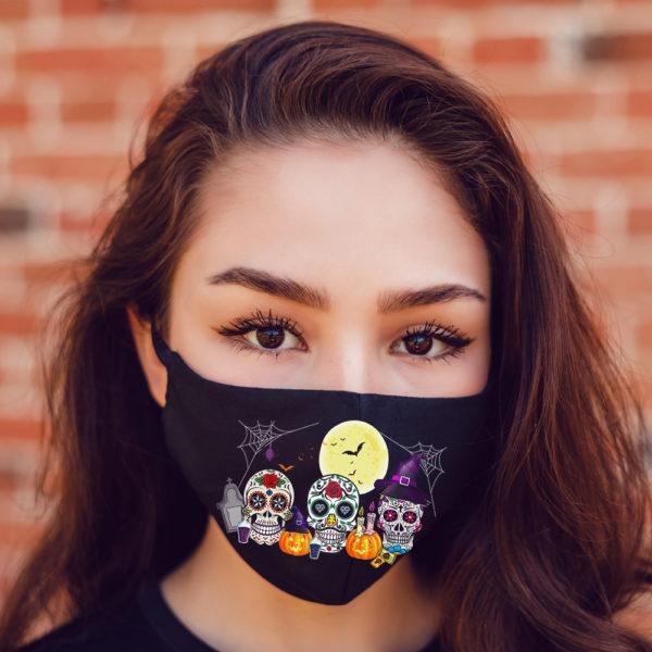 Sugar Skull Pumpkin Skeleton Halloween Calavera Face Mask