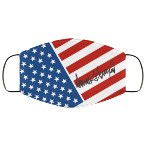 Trump Signature American Flag Face Mask Support Trump Printed Face Mask
