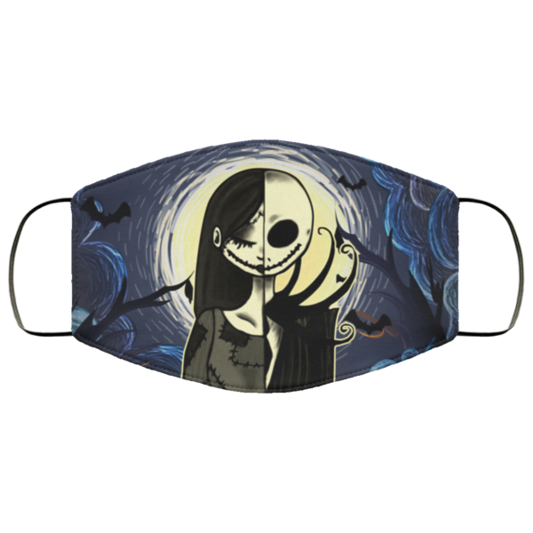 Jack Skellington And Sally Funny Halloween Face Mask