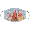 Leaf Seamless Face Mask Cool Floral Chicken Face Mask