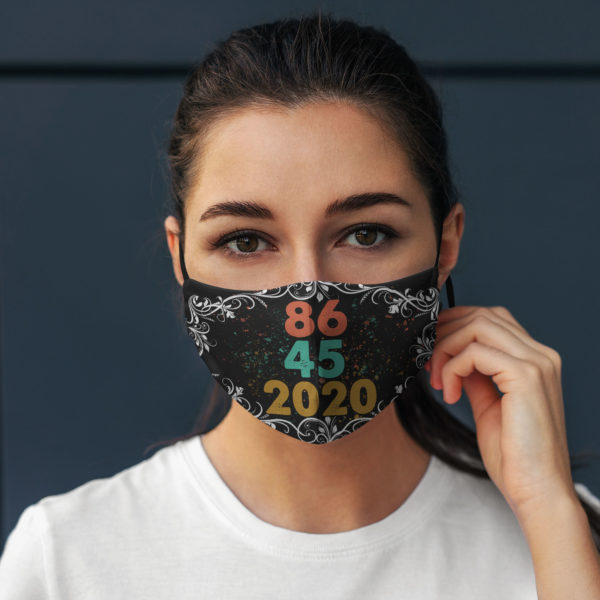 8645 2020 Floral Anti Donald Trump Face Mask