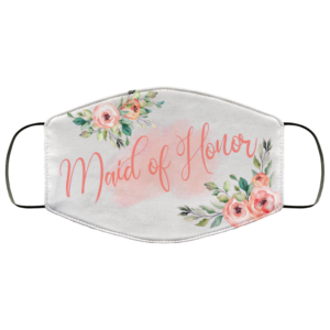 Maid Of Honor Floral Mask Face Mask