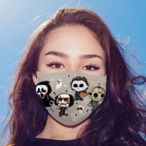Horror Movies Characters Jigsaw Ghostface Jason Michael Myers Face Mask-Face Mask Cover