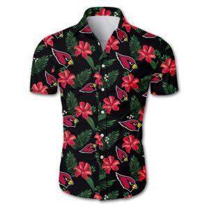 Arizona cardinals tropical flower Hawaiian Beach Shirt