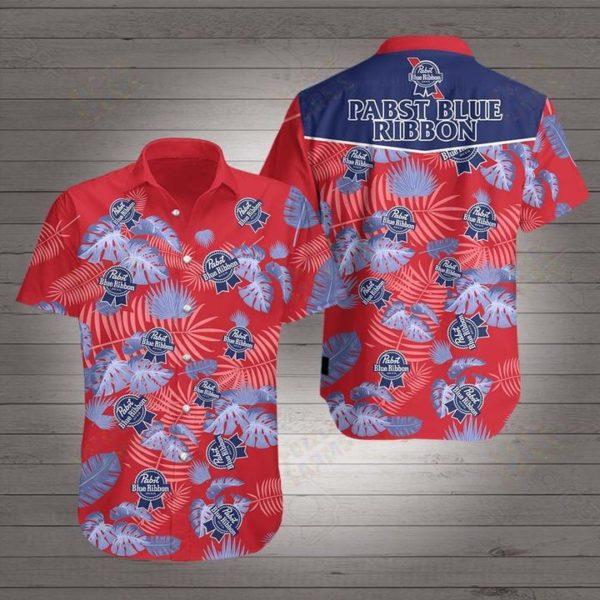 Beer pabst blue ribbon Hawaiian Beach Shirt