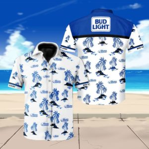 Bud light beer floral Hawaiian Beach Shirt
