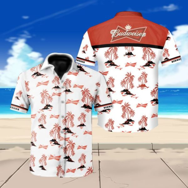 Budweiser beer floral hawaiian shirt