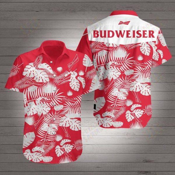 Budweiser beer floral Hawaiian Beach Shirt