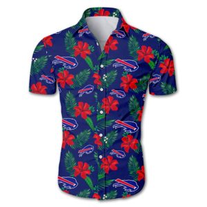 Buffalo bills tropical flower Hawaiian Beach Shirt
