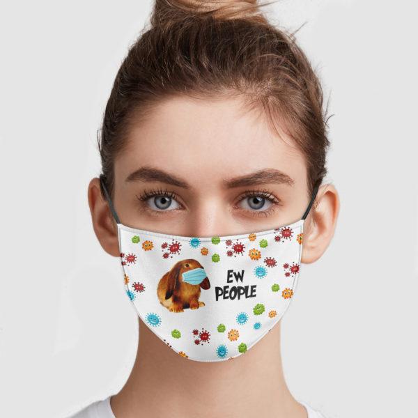 Bunny Ew People Cloth Face Mask Reusable