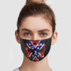 Confederate Flag Skull Cloth Face Mask Reusable